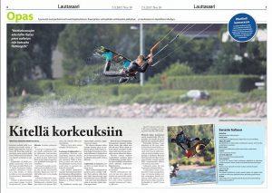 Lauttasaari-lehti 7.9.2017: Kitellä korkeuksiin